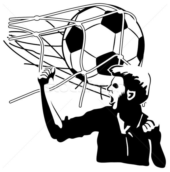 目標 ボール サッカー サッカー 緑 ストックフォト © mannaggia