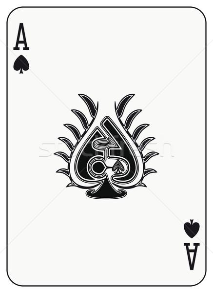 エース スペード 演奏 カード スーツ 黒 ストックフォト © mannaggia