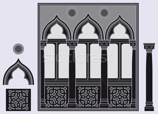 Tre luce finestra architettonico elementi nero Foto d'archivio © mannaggia