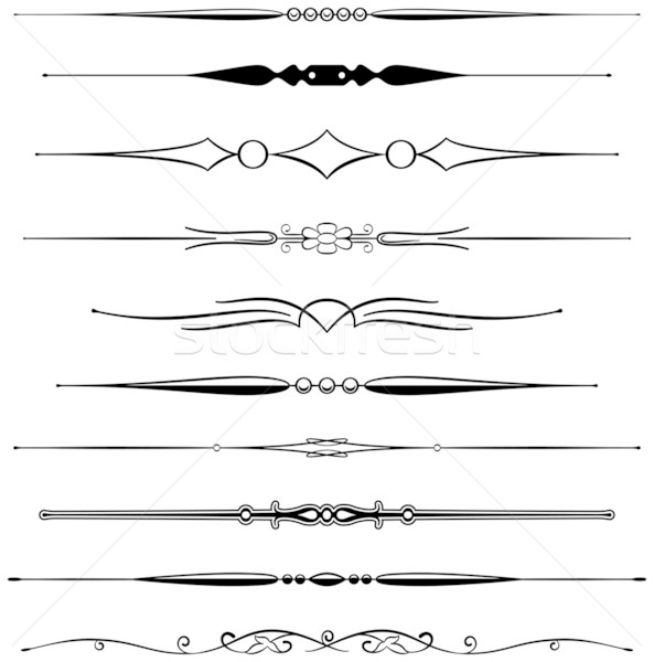 Pagina regole dieci diverso elegante design Foto d'archivio © mannaggia