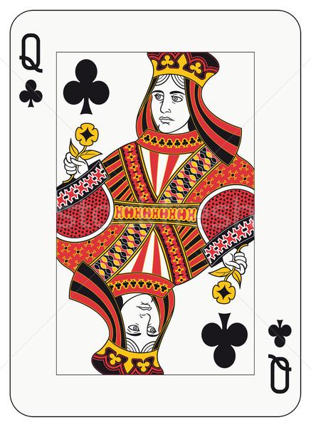 クイーン 演奏 カード 装飾 別 レベル ストックフォト © mannaggia