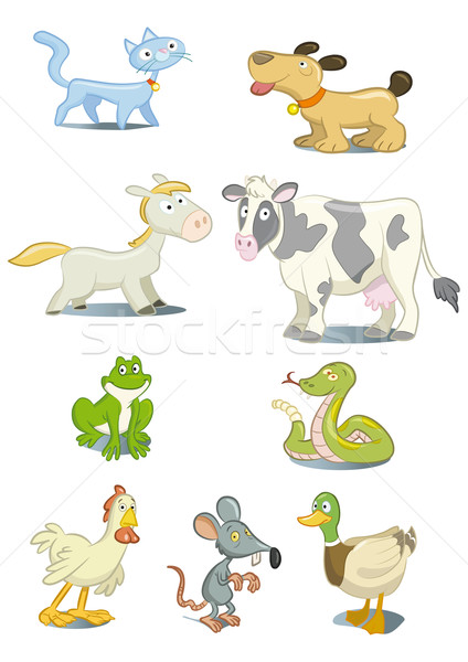 Animaux cartoon style animaux de compagnie chat Photo stock © mannaggia