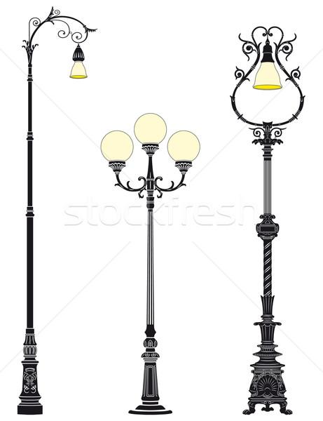 Floor street lamps Stock photo © mannaggia