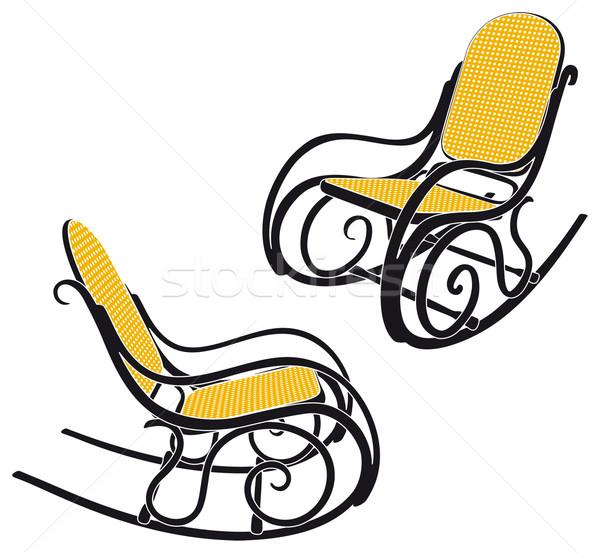 Bujane sylwetka dwa inny krzesło Zdjęcia stock © mannaggia