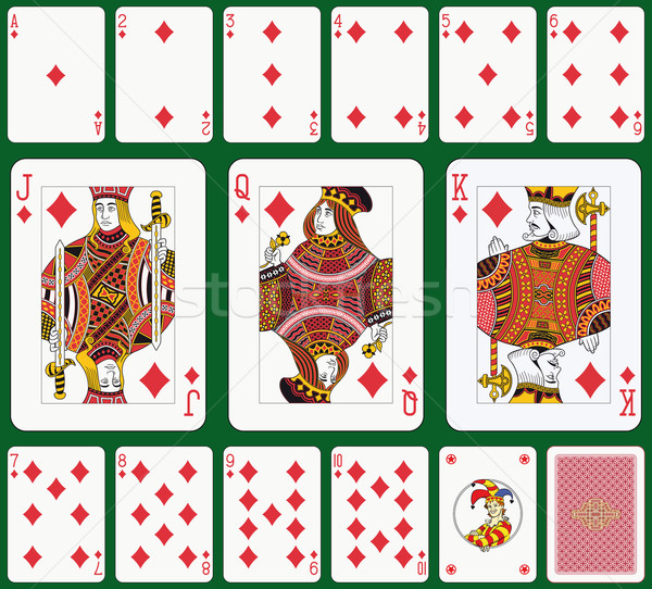 Diamond костюм игральных карт назад лицах удвоится Сток-фото © mannaggia