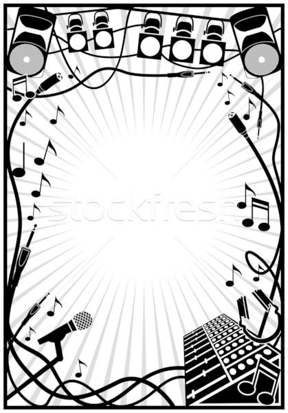 Musica elemento confine suono dance Foto d'archivio © mannaggia