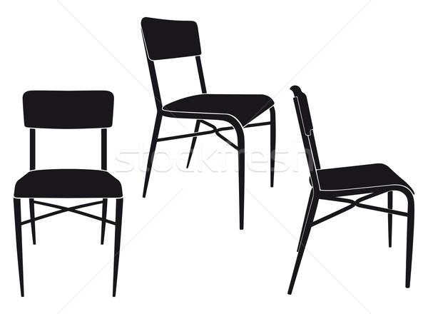 椅子 3  異なる ホーム 黒 ストックフォト © mannaggia