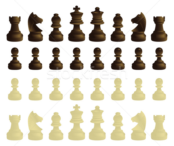 Coloured chessmen Stock photo © mannaggia