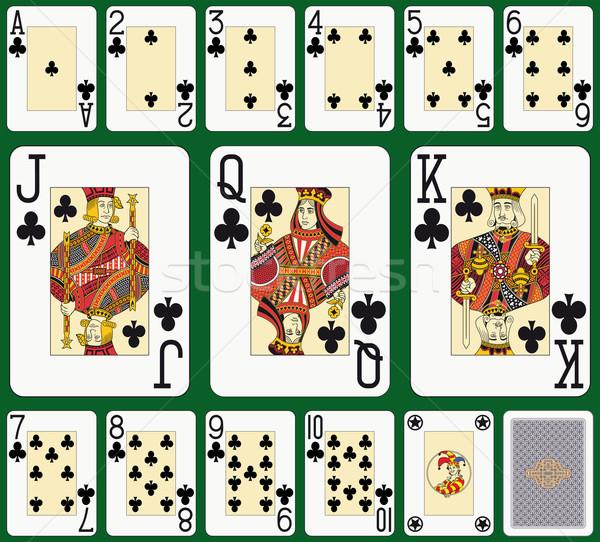клуба костюм большой игральных карт назад лицах Сток-фото © mannaggia