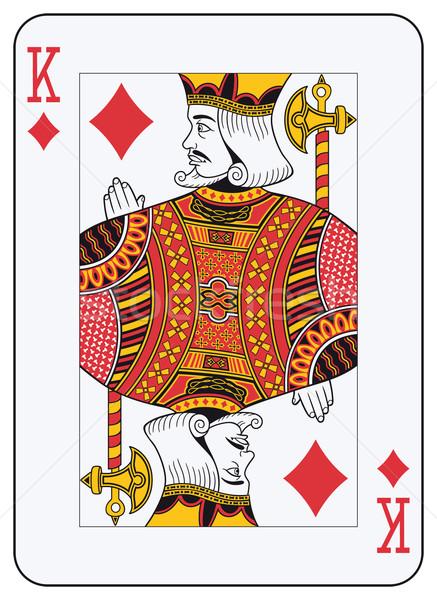 Koning diamanten spelen kaart decoraties apart Stockfoto © mannaggia