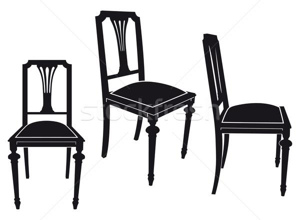 椅子 3  異なる 木材 ホーム ストックフォト © mannaggia