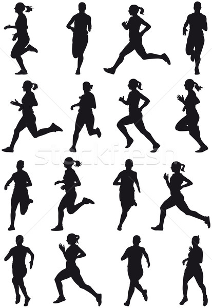 Running girl Stock photo © mannaggia