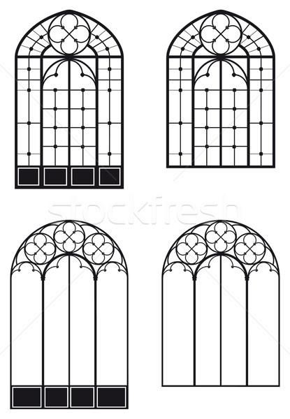 Windows due diverso porta finestra nero Foto d'archivio © mannaggia