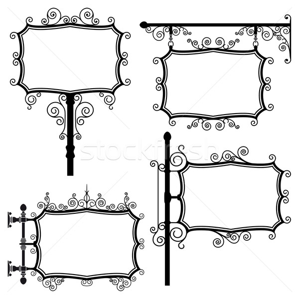 Wrought iron signs Stock photo © mannaggia