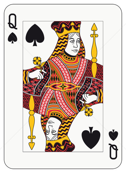 Kraliçe maçalar oynama kart süslemeleri ayrı Stok fotoğraf © mannaggia