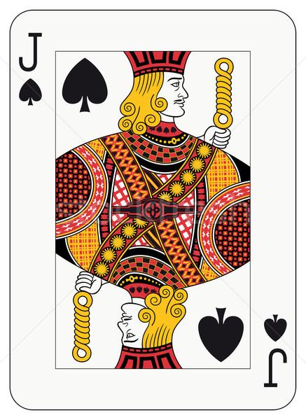 Spades spelen kaart decoraties apart niveau Stockfoto © mannaggia