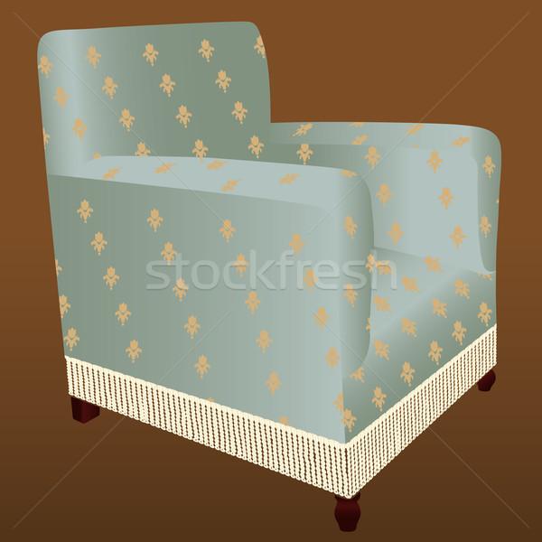 кресло старые украшенный Председатель стиль сидят Сток-фото © mannaggia