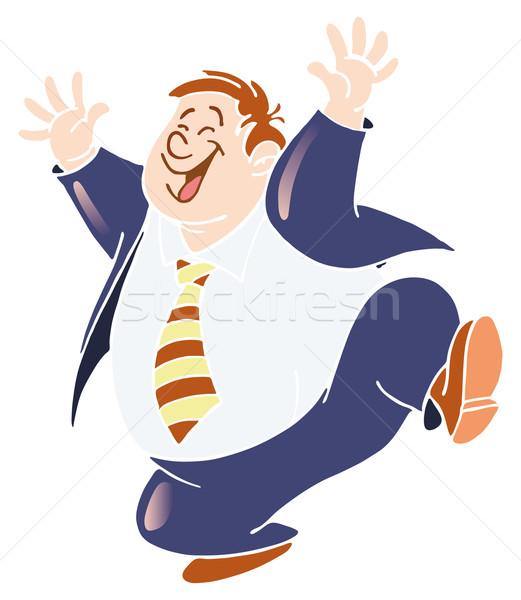 ストックフォト: 幸せ · 男 · 青 · 服 · 白 · シャツ