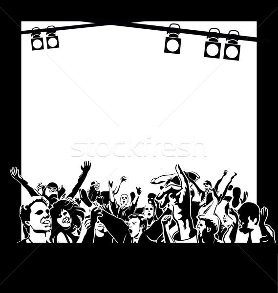 ダンス 人 幸せな人々  空 手 パーティ ストックフォト © mannaggia