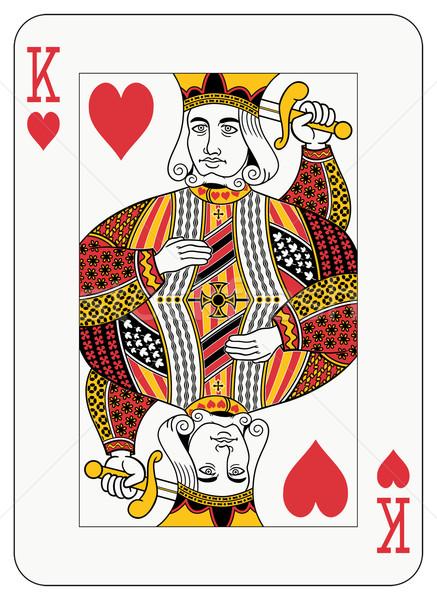 Koning harten spelen kaart decoraties apart Stockfoto © mannaggia