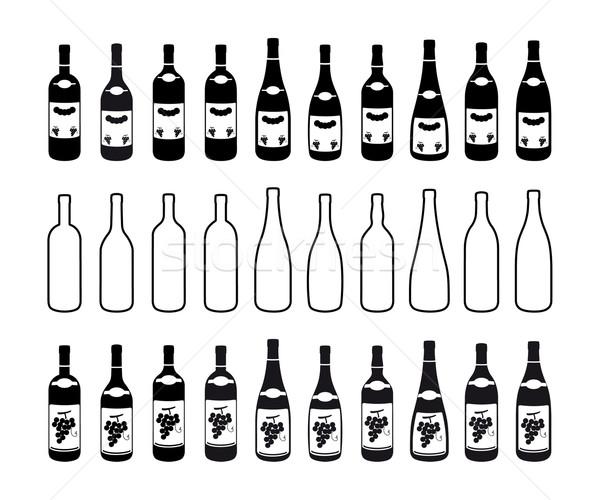 бутылок десять различный два ресторан Сток-фото © mannaggia
