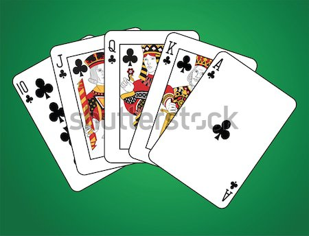 Double royal flush club Stock photo © mannaggia