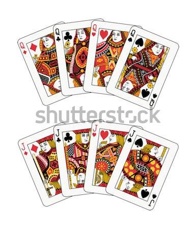 トランプ 4 異なる クラブ 赤 カジノ ストックフォト © mannaggia