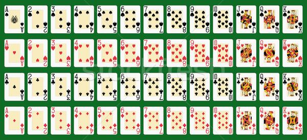 Completo deck blackjack dimensioni originale Foto d'archivio © mannaggia