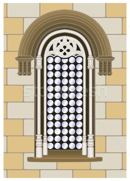 Finestra italiana muro separato livello vettore Foto d'archivio © mannaggia