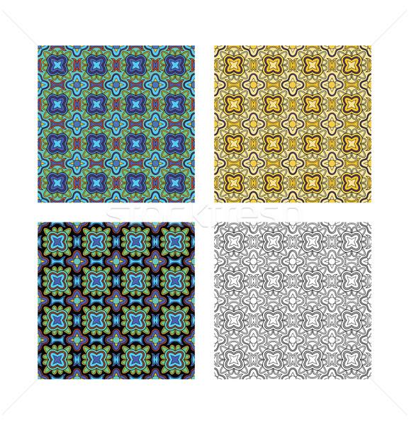 パターン 3  異なる 色 黒白 テクスチャ ストックフォト © mannaggia