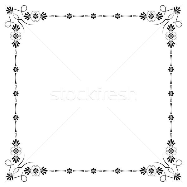 Hoeken pagina decoratie bloem ontwerp Stockfoto © mannaggia