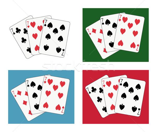 Speelkaarten vier verschillend club Rood casino Stockfoto © mannaggia