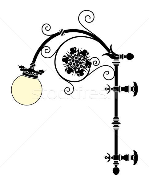 Wall Street lampy żelaza elegancki czarny Zdjęcia stock © mannaggia