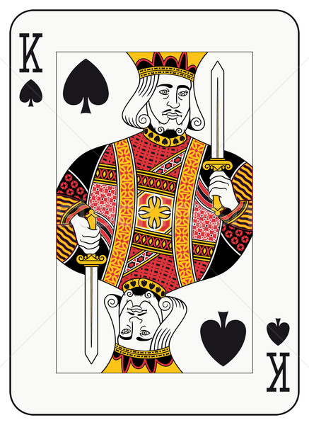 King of Spades Stock photo © mannaggia