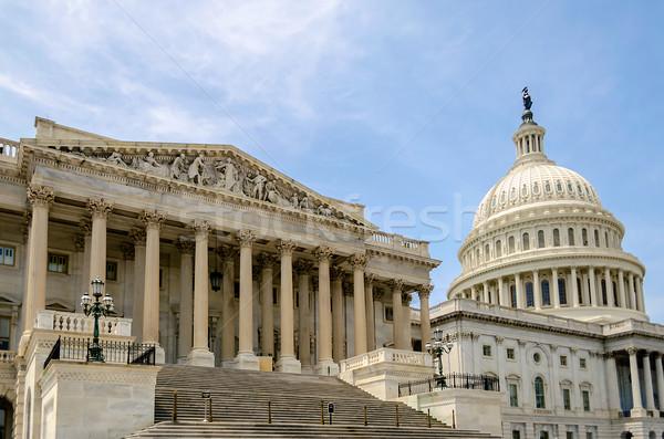 Amerikan Kongre Binası Bina Washington DC ABD mavi renk Stok fotoğraf © marco_rubino