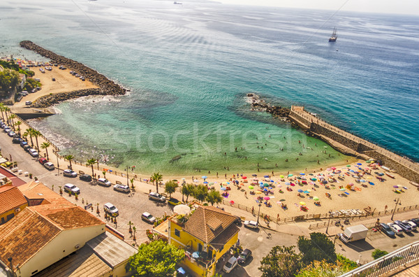Panoramic bird-view of Pizzo Calabro coastline Stock photo © marco_rubino