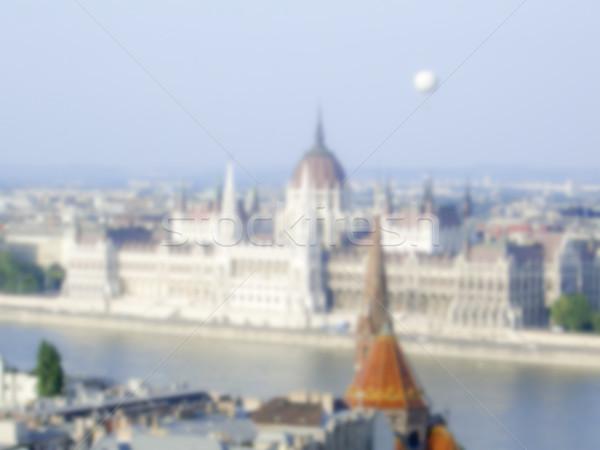 Hongrois parlement Budapest Hongrie floue post Photo stock © marco_rubino