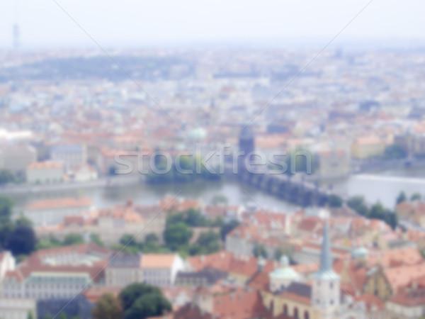 Defocused Background of Prague. Intentionally blurred post produ Stock photo © marco_rubino