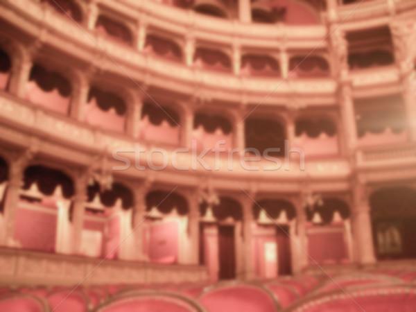 Iç opera tiyatro bulanık gönderemezsiniz üretim Stok fotoğraf © marco_rubino