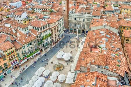 Görmek piyasalar kare verona 2014 İtalya Stok fotoğraf © marco_rubino