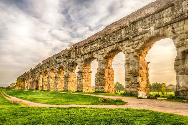 ストックフォト: 公園 · ローマ · 遺跡 · 古代 · ローマ · 建物