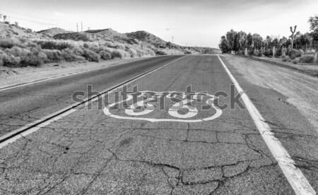 Route 66 imzalamak Kaliforniya ABD karayolu hızlandırmak Stok fotoğraf © marco_rubino