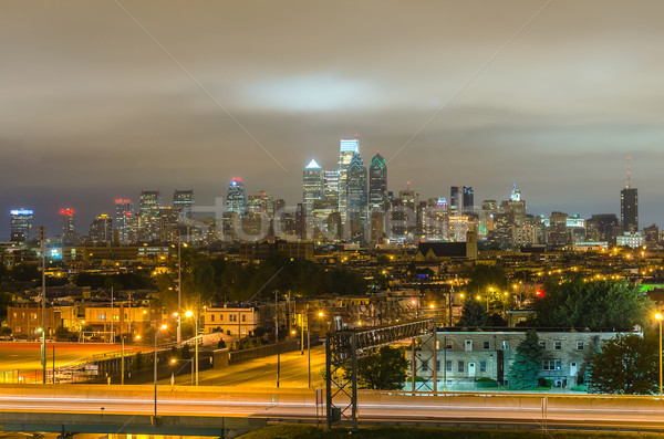 Philadelphia Skyline at Night Stock photo © marco_rubino