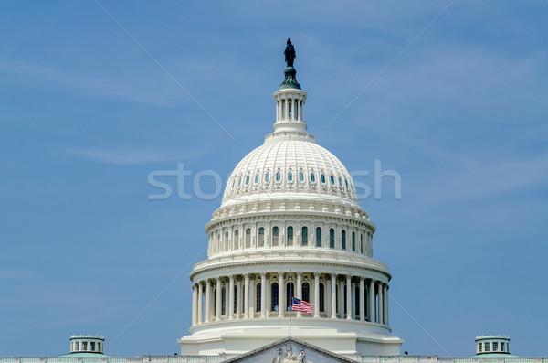 Stany Zjednoczone Capitol budynku Washington DC USA niebieski kolor Zdjęcia stock © marco_rubino