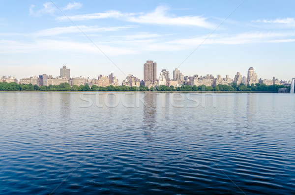 Reservoir Central Park New York naar kant water Stockfoto © marco_rubino
