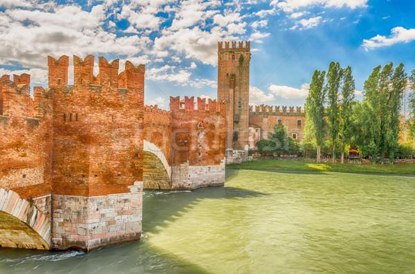 Ponte verona Itália castelo edifício construção Foto stock © marco_rubino