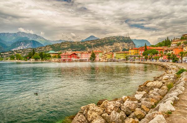 Village of Torbole, Lake Garda, Italy Stock photo © marco_rubino
