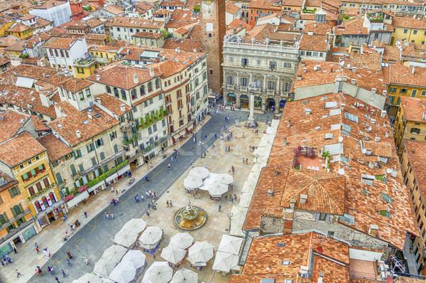 Görmek piyasalar kare verona İtalya manzara Stok fotoğraf © marco_rubino
