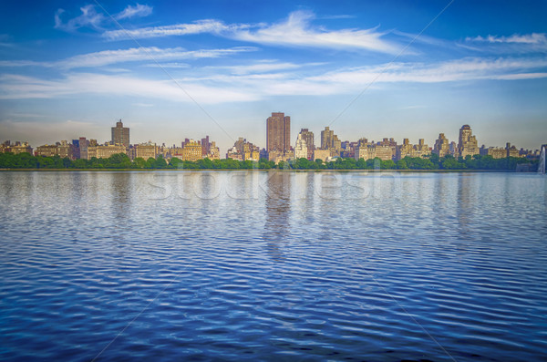 Reservoir in Central Park, New York Stock photo © marco_rubino