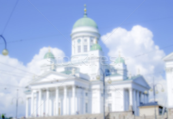 Cathédrale Helsinki Finlande floue post production Photo stock © marco_rubino